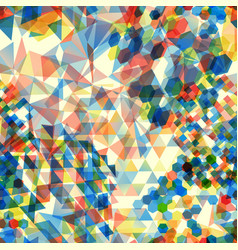 Abstract background with messy polygon shapes vector