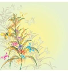 Abstract lines Vegetative motives vector image