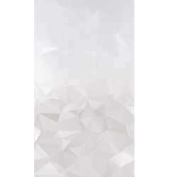 Abstract silver polygonal triangular background vector image