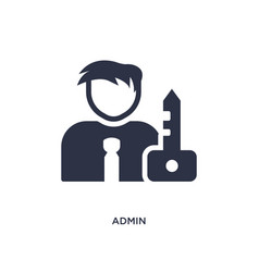 Admin icon on white background simple element vector
