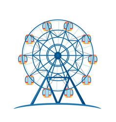 amusement entertainment park giant wheel for fun vector image