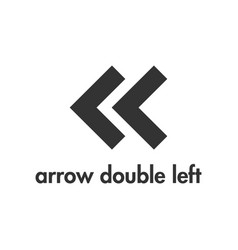 arrow icon design template isolated vector image