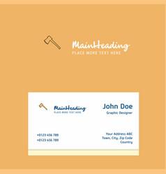 axe logo design with business card template vector image