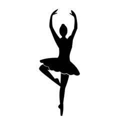 Ballerina simple icon vector