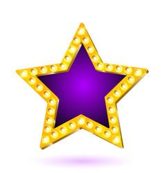 Banner purple star frame vector