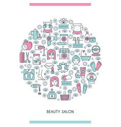Beaty salon concept vector