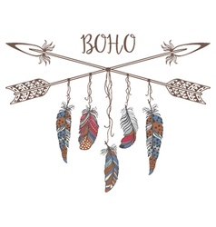 Boho Style for T-shirt and Decoration vector