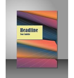 Brochure design vector