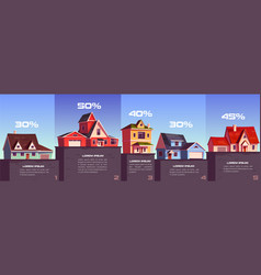 business infographic real estate sale and rent vector image