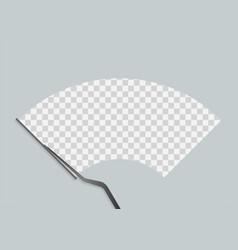 Car windscreen wipe glass wiper cleans the vector