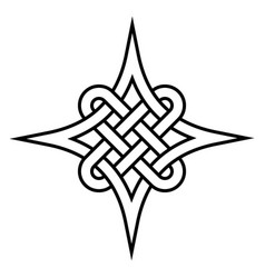 Celtic quaternary knot eternity celtic vector