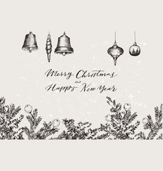 christmas banner with conifers vector image