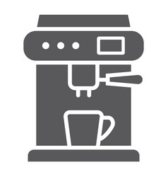coffee machine glyph icon appliance and kitchen vector image