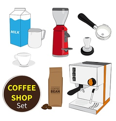 Coffee shop set vector