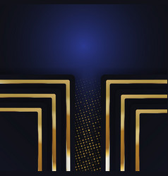 Color abstract geometric banner with gold shapes vector