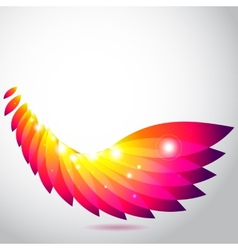 Colorful wing of leaves vector image