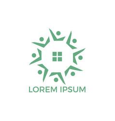 community home logo design vector image
