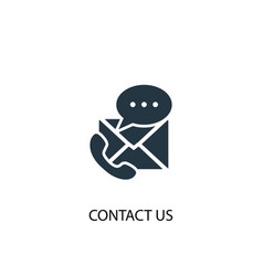 Contact us icon simple element vector
