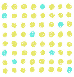 cute green and blue dots background vector image