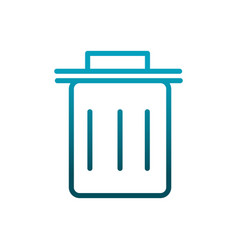 Delete trash can mobile icon communications vector