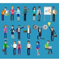 detailed characters people business vector image