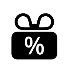 discount or gift icon vector image
