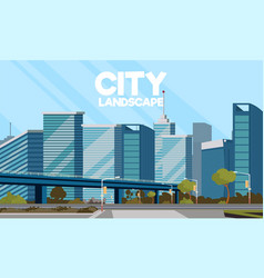 Drawing image of the city landscape vector