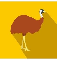 Emu icon flat style vector image
