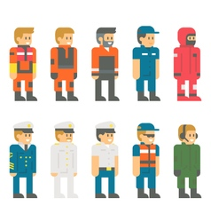 Flat design coast guard uniform vector