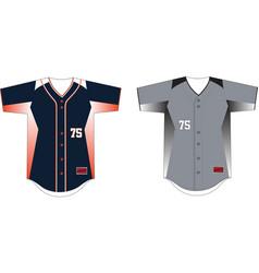 Full button front baseball jersey vector