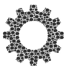 Gearwheel composition hint icons vector