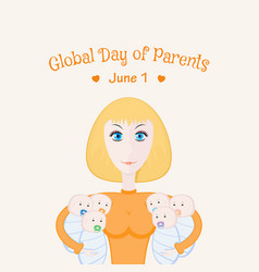 global day of parents card vector image