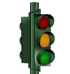go traffic light vector image