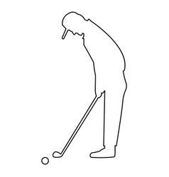Golfer black color icon vector