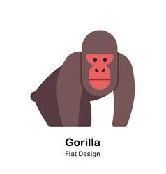 gorilla flat icon vector image