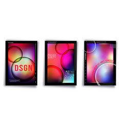gradient colorful cover template for banner vector image