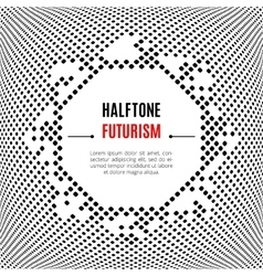 Halftone dot design technology frame Background vector image