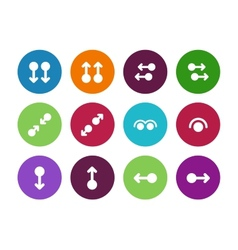 Hand gestures circle icons on white background vector