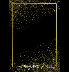 happy new year glitter and gold greeting template vector image