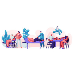 help old disabled people in nursing home vector image
