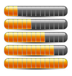 Horizontal bars loading bars vector