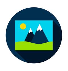 image circle icon vector image
