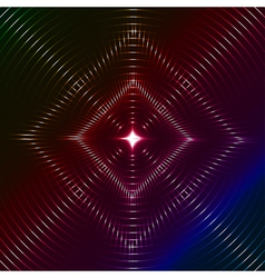 Infinite rhombic of shining flare vector image