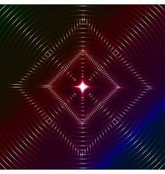 Infinite rhombic shining flare vector