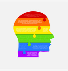 infographic lgbt head lgbt puzzle symbol vector image