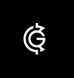 initial letter c g logo template with crypto vector image