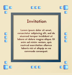 Invitation with blue stones cardthe events vector
