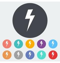 Lightning single icon vector image