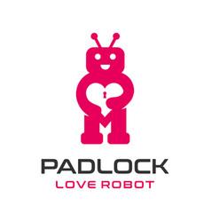 love robot logo vector image