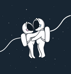 Love story in space vector